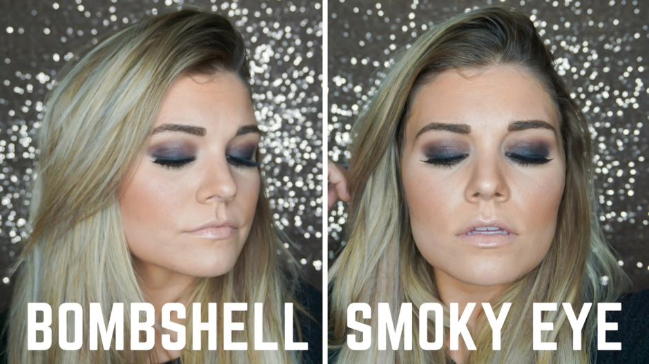 Bombshell Black Smoky Eye Full Face Makeup Tutorial Tines And